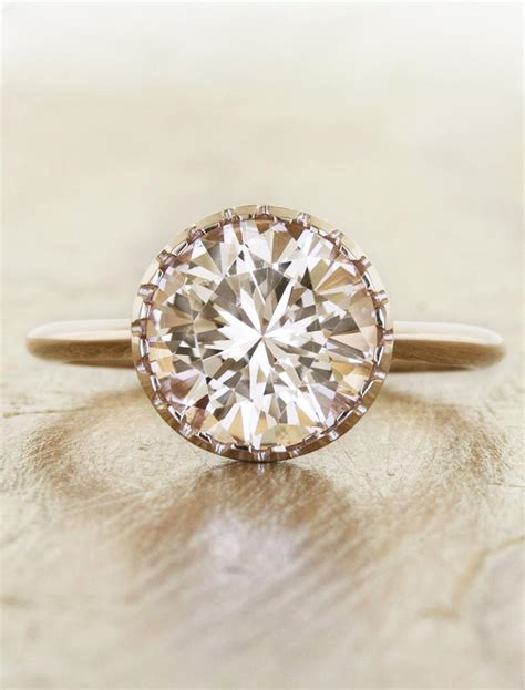 angeline morganite gold engagement ring ken design