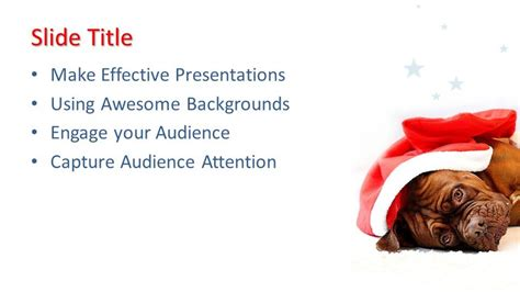 christmas dog powerpoint template  powerpoint