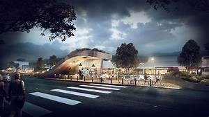3D Visualization - Island Café - Architectural ...