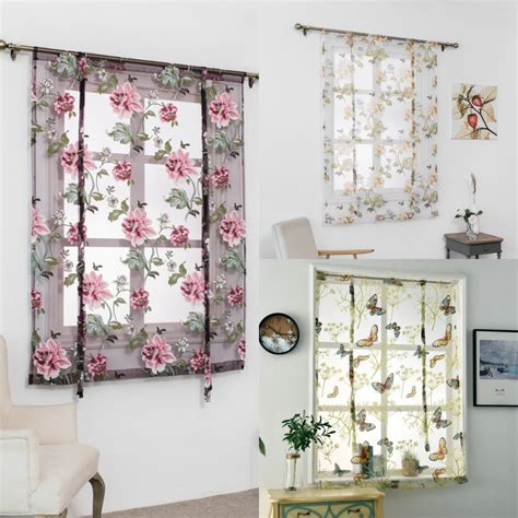 Bathroom Window Valances by Rod Liftable Kitchen Bathroom Window Curtain Floral
