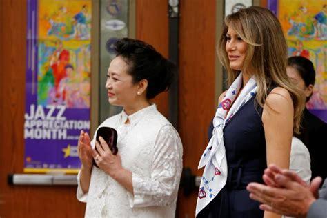 melania trump  chinese  lady peng liyuan visit