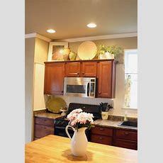 Decorating Above Kitchen Cabinets  Freshomes