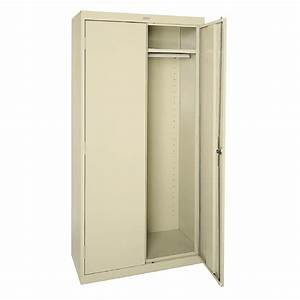 shop edsal 36 in w x 72 in h x 24 in d steel freestanding With kitchen cabinets lowes with outside wall art metal