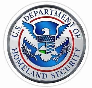 """""""Department of Homeland Security - DHS Emblem 3D on Blue"""