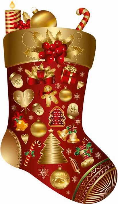 Ornament Decoration Santa Stockings Claus Transparent Stocking