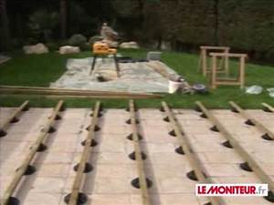 montage terrasse bois youtube With terrasse en bois sur plot