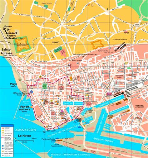 le bureau le havre le havre tourist map