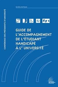 Guide 2012 De L U2019accompagnement De L U2019 U00e9tudiant Handicap U00e9  U00e0 L U2019universit U00e9