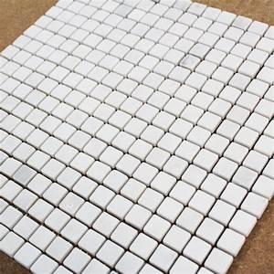 Mosaique Piscine Pas Cher : mosa que marbre carrare blanc vieilli carrelage mosaique ~ Premium-room.com Idées de Décoration