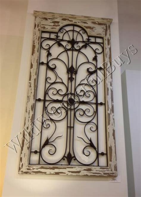 exceptional iron gate wall decor 6 wood panel wall decor