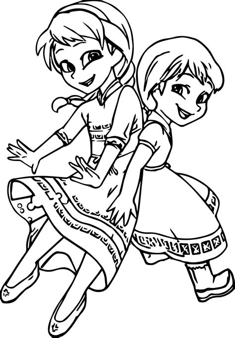 ideas  coloring pages  girls elsa  anna