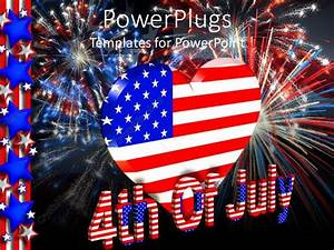 PowerPoint Template: 4th of July theme with American flag ...