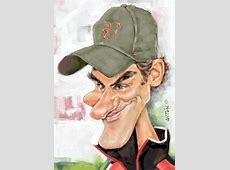 Caricaturas de famosos Roger Federer Caricaturas de