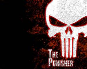 Red Punisher Skull Logo