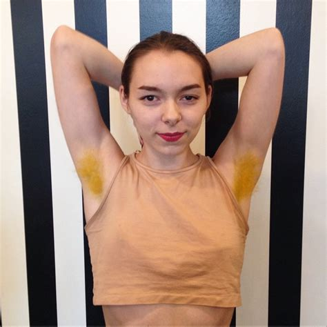 Pastel Armpit Hair Dye Trend