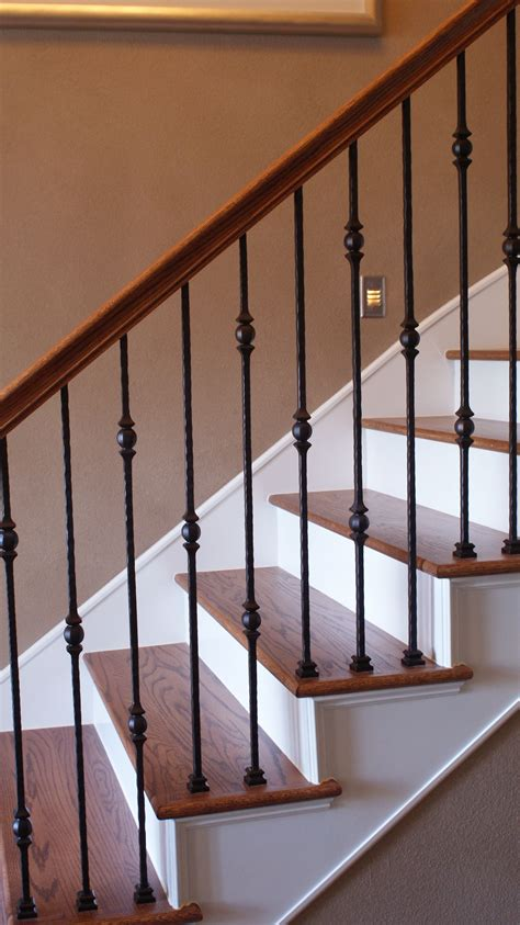 Metal Banister Railing by A Stair Remodel At The Stella Journey Home Visit The