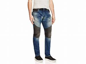 Lyst - True Religion Rocco Two-Toned Slim-Fit Moto Jeans in Blue for Men