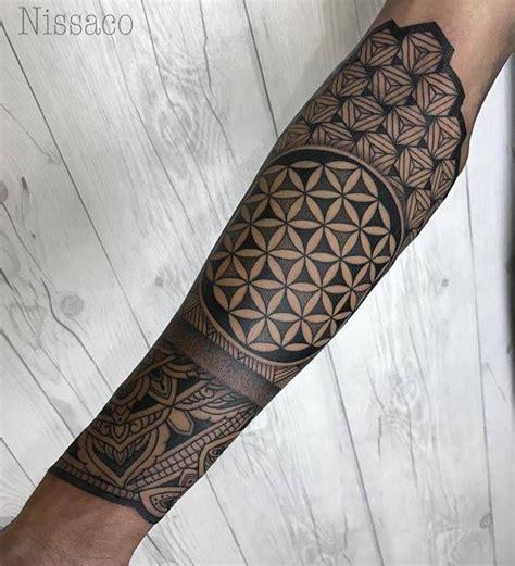 geometric tattoo neotattooart flower  life