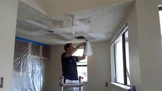 how to scrape popcorn ceilings quickly youtube