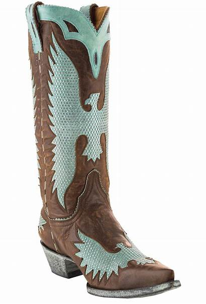 Aqua Boots Gringo Eagle Iron Brass Boot