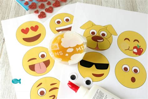 emoji fruit cup craft    printable