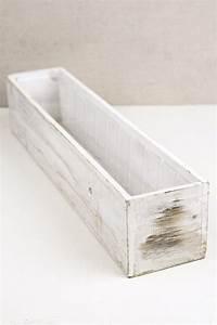 White, 4x20, Planter, Boxes, Wood