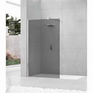 Paroi Douche Verre Sablé : paroi de douche fixe kuadra h 120 verre fum achat ~ Premium-room.com Idées de Décoration