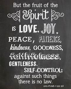 Chalkboard Printable - Galatians 5:22-23 - Printable 8x10