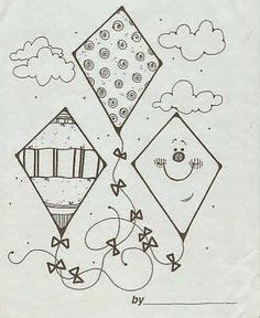 kites images kite kites craft coloring pages