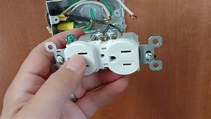 How To Split Wire An Outlet Or Receptacle