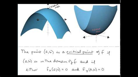 calc iii lesson  relative extrema  saddle pointsmp