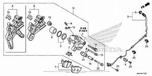 Rear Brake Caliper For 2016 Honda Nc700
