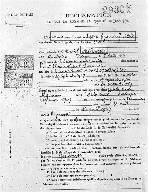 bureau de nationalité française un livre du souvenir la naturalisation la