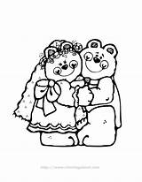 Coloring Pages Groom Bride Colouring Clipart Library Comments Clip Coloringhome sketch template