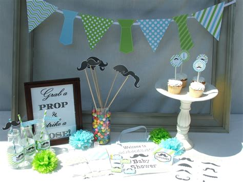 boy baby shower decorations mustache vintage