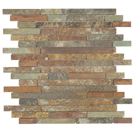Home Depot Wall Tile Class by Jeffrey Court Satin Copper 11 5 In X 12 In X 8 Mm Copper