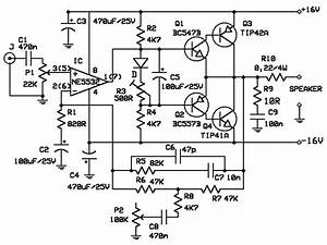 10w Audio Power Amplifier With Bass Boost