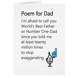Funny Father's Day Poems