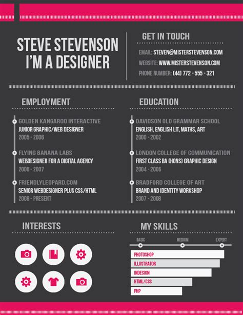 Resume Indesign by Design A Clean Effective Resume In Indesign Sitepoint