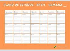 Modelo de cronograma de estudo semanal download
