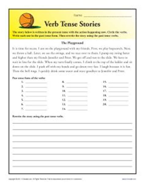 Verb Tense For Resume by Grammar Worksheets 2nd Grade Abitlikethis