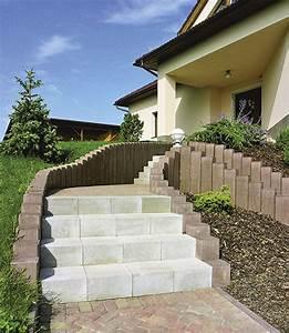 Betonové zahradní schody