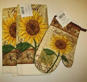 amazon com fall sunflower kitchen towel set with oven