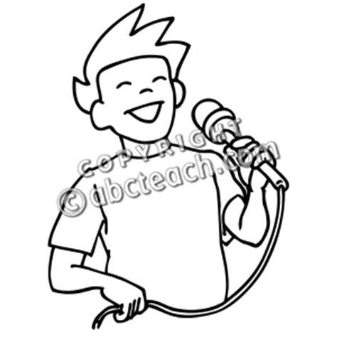 children singing clipart black and white clip boy singing b w abcteach