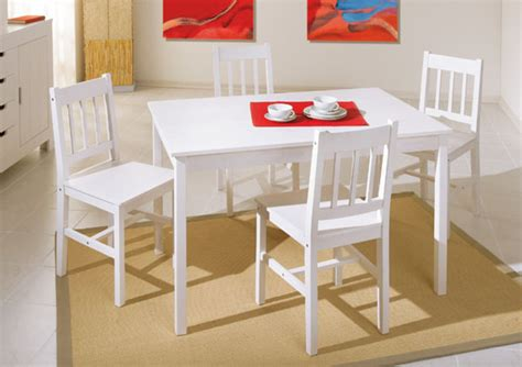 tables de cuisines ensemble table 4 chaises blanc
