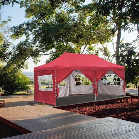 ainfox  ft pop  canopy tent party heavy duty instant gazebo   removable sidewalls