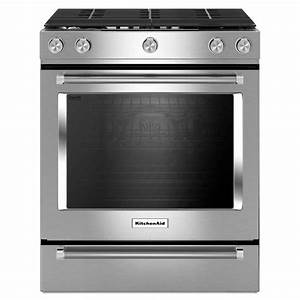 KitchenAid 30 in 5 8 cu ft Slide-In Gas Range with Self
