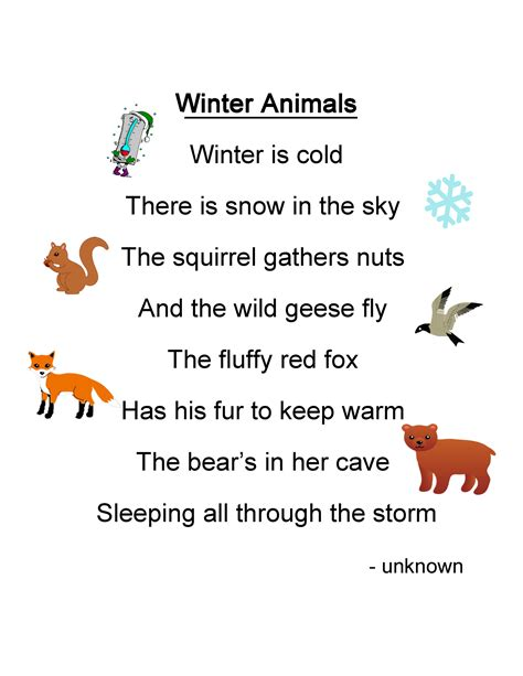 winter poems and quotes quotesgram 712 | 716846975 Winter Animals Poem
