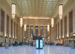 30th street station interior for Art deco train interior