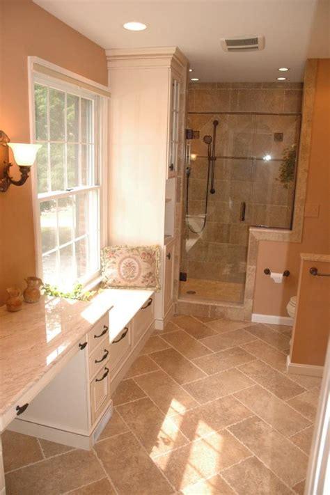 traditional bathroom  sacramento light tan country